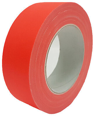 NEON Gaffa Tape Klebeband Orange UV-aktiv 38mm x 25m Gewebeband Panzertape
