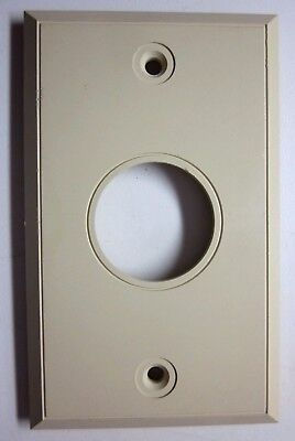 Vintage Ivory Color Beige Bakelite Smooth Single Outlet Wall Plate Cover 1960s