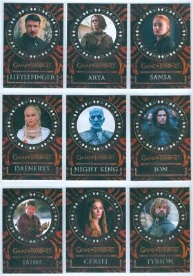 """""""laser Cut Insert Card Set Lc01-Lc18"""" Game Of Thrones Valyrian Steel"""