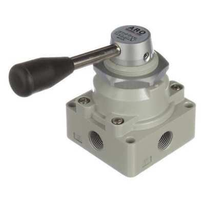 ARO M513LR Manual Air Control Valve, 4-Way, 3/8in NPT