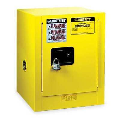 JUSTRITE 890400 Flammable Safety Cabinet, 4 Gal., Yellow