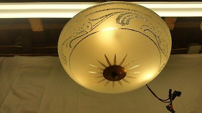 Antique Vintage Art Deco Glass Ceiling Light Fixture Chandelier