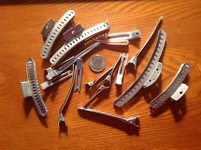 Vintage Aluminum Hair Wave Clips Goody Merwin Various Sizes and Patent numbers