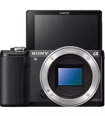 Sony Alpha a5000 20.1MP DSLR Camera used Black Body Only with Nice Leather Cover