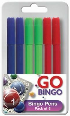 6 x BINGO DABBER DABBERS BINGO MARKERS MULTI-COLOURED PENS FOR BINGO TICKETS NEW