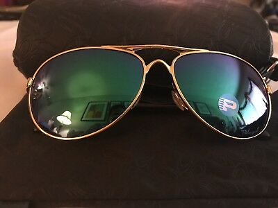 oo4108-12 OAKLEY SUNGLASSES TIE BREAKER POLISHED GOLD POLAR POP JADE IRIDIUM LEN