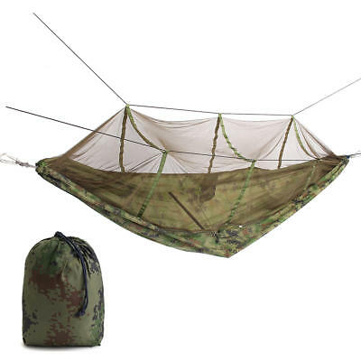 IPRee™ Portable Double Person Hammock Swing Hanging Nylon Bed With Mosquito Net