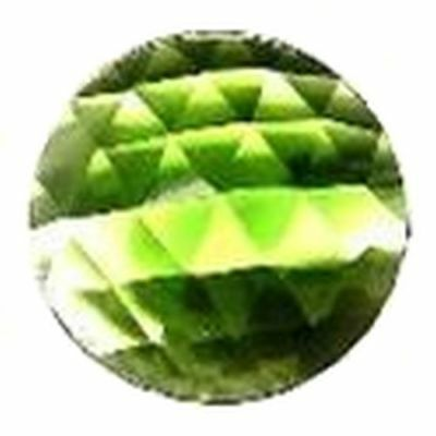 J10 30mm GREEN Round Lustrous Crystal Gem Faceted Shaped Glass Jewels