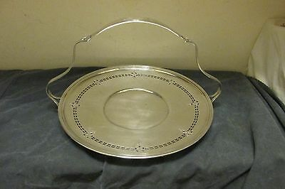 ACME Corp Chicago~Sheffield Reproduction~Silver Plate Reticulated Serving Tray