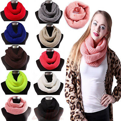 Soft Scarf Warm Thick Wrap Men Circle Knit Infinity Winter Unisex Women's Loop