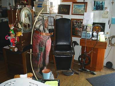 Antique Dentist Chair of Iron & Oak 1870-90 Era Pick Up Only