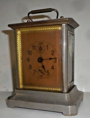 Antique Musical Junghans Carriage Clock Working + Alarm Germany With Key
