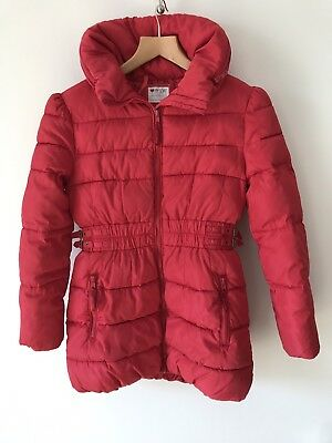 Marks And Spencer Girls Coat Age 11-12 Red Padded Coat Jacket M&S