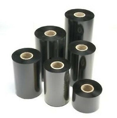 8 Casters Thermal Transfer Foil B: 40mm x 500m Wax Barcode Pressure Carbon