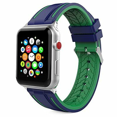 Band for Apple Watch Series 3/2/1 Soft Silicone Replacement Sports Strap 42mm