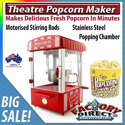 Theatre Popcorn Maker Machine Household Movies Entertainment Kids Adults Party