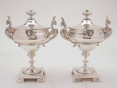 Pair of Victorian Silver Plated Urns, Circa 1880