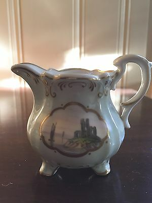 ANTIQUE COALPORT MINIATURE GILDED PITCHER c1830 EARLY 19th CELADON GREEN PITCHER