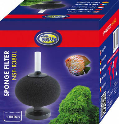 Aquanova Bio Sponge Filter Aquarium Fish Tank Internal Air Driven Bubble Filter