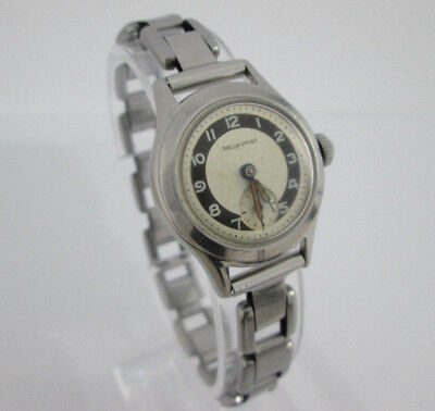 1940s Art Deco Ladies Swiss Rollo Sport ETA 980 Vintage Watch Authentic Gift