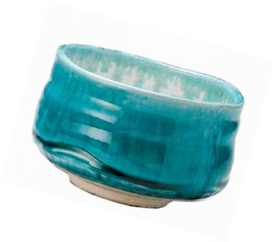 Mino-yaki Matcha Tea Bowl Turquoise Blue [Japan Import]