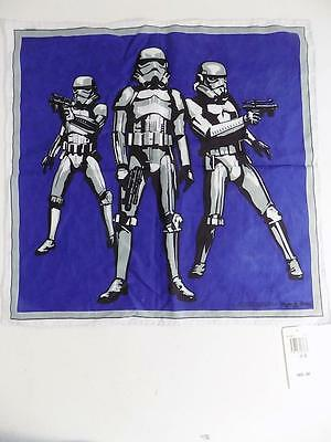 Psycho Bunny Star Wars Men's Storm Troopers Pocket Square Blue NWT MSRP $60