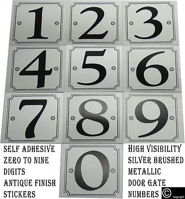 """1/"""" Gold Silver Self Adhesive Number Numbers 0-9 Monograms Sign Sticker Stickers"""