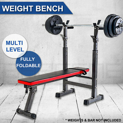 Adjustable Home Gym Weight Bench Press Exercise Equipment Seat Squat Stand Dip