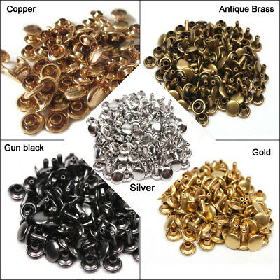 Double Cap Rivets Stud Rapid Rivets Leather Craft Repair 6x6mm 6x8mm 8x6mm 8x8mm