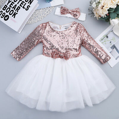 Kids Baby Flower Girl Princess Dress Party Wedding Bridesmaid Tulle Tutu Dresses