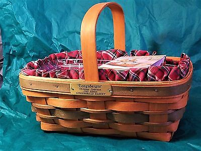 LONGABERGER BASKETS w/ LINERS & PROTECTORS -SIGNED LOT OF 3~ BLOW OUT SALE~