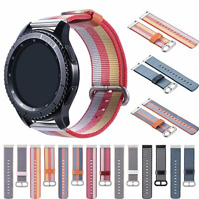 22mm Nylon Woven Replacement Strap Sport Watch Band Bracelet with Metal Buckle