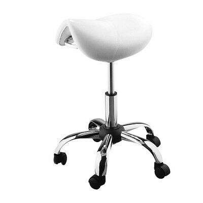 Saddle Seat Stool 5 Wheels Chair Beauty Nail Hairdressing Spa Massage Ergonomic