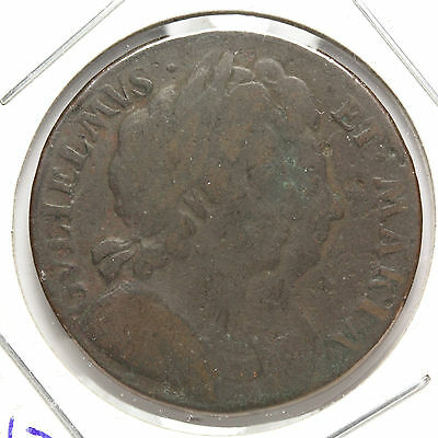 1694 Half Penny - Great Britain - Spink# 3451 - KM# 75.3