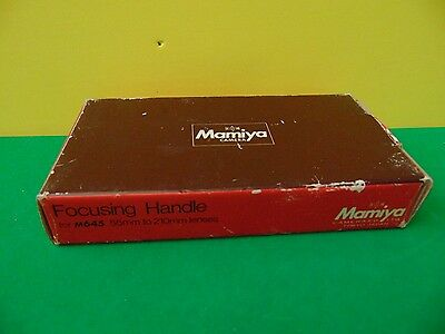 New Mamiya Focusing Handle for M645 55mm to 210mm Lenses Made in Japan