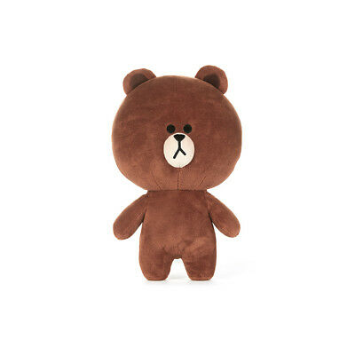 LINE FRIENDS Character Plush Doll Toy STANDING BROWN Small Season 5