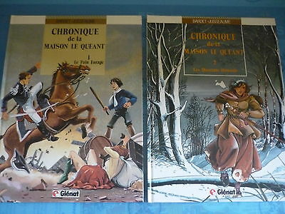 Lot de 2 albums E.O --- CHRONIQUE DE LA MAISON LE QUEANT ---
