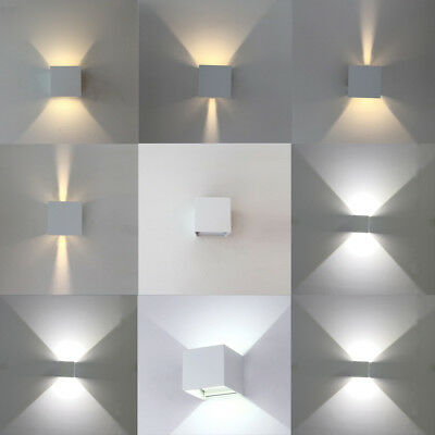 LED Wall Light 12W Cool/warm Outdoor Up Sconce Down Cube Lamp Modern Exterior