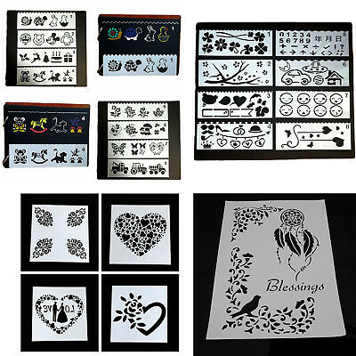 Letter Flower Number Layering Stencils Painting Scrapbooking Paper Cards Craft