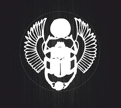 Sticker Ancient Egypt Old Egyptian Beetle Amulet White