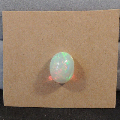 Ethiopian Opal Cabochon AAA 10x13.5mm with 7mm dome Wollo Province 4.45ct(13239)