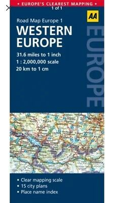 Road Map Western Europe (AA Road Map Europe 1) AA Publishing Travel Tomtom Tour