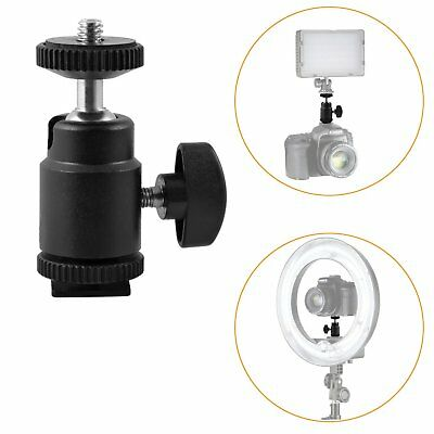 """Lock Hot Shoe Adapter Mini Ball Head with Camera Cradle 1/4"""" Screw Mount for LCD"""