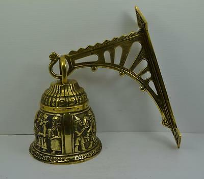 Stunning large French country house solid brass period door bell 2 kilos loud ??