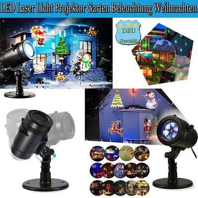led laser licht projektor au en beleuchtung xmas weihnachten deko gartenlicht eur 26 12. Black Bedroom Furniture Sets. Home Design Ideas