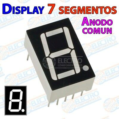 Display 7 segmentos Led BLANCO anodo comun 14mm 0,56 pulgadas - Arduino Electron