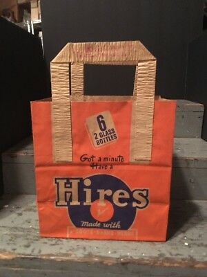 """Vintage 1930s Hire Rootbeer 6 Pack Carrier """"Got A Minute"""""""