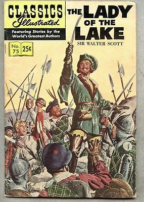 Classics Illustrated #75-1969 fn- 9th edition Scott / Lady Of The Lake