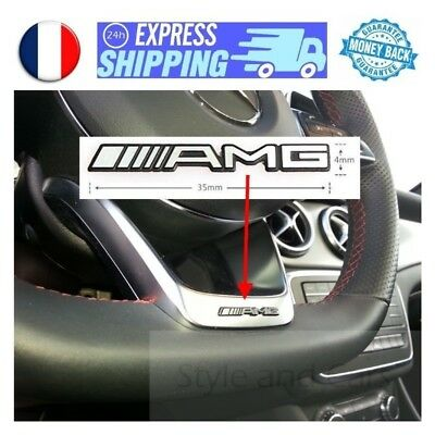 AMG logo 35x4mm pour VOLANT Mercedes emblem aufkleber badge sigle stickerAMG log