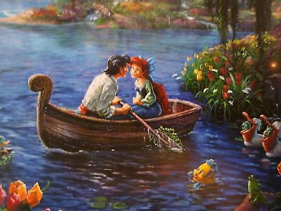 "Thomas Kinkade Studios (Disney) Postcard "" The Little Mermaid II"" (Eric & Ariel)"